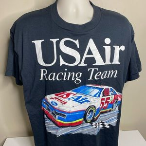 Vintage US air racing nascar t shirt size XL